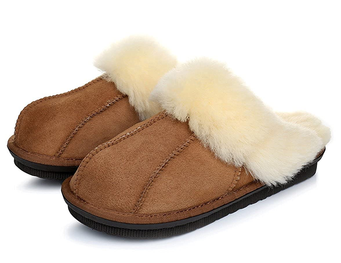 6a11ce361 Warmie Australian Sheepskin Super Thick Premium Sheepskin Slippers |  Durable & Extra Fluffy Brown: Amazon.ca: Shoes & Handbags
