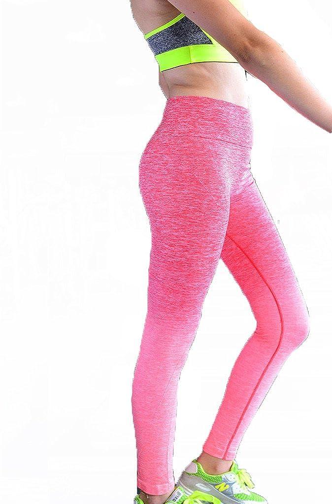 DODOING Jogginghose Leggings Hose Sportanzug Sporthose Training Fitnessanzug Yoga Pants Elastische Ombre Yoga Leggings Turnhalle Hosen F/ür Frauen