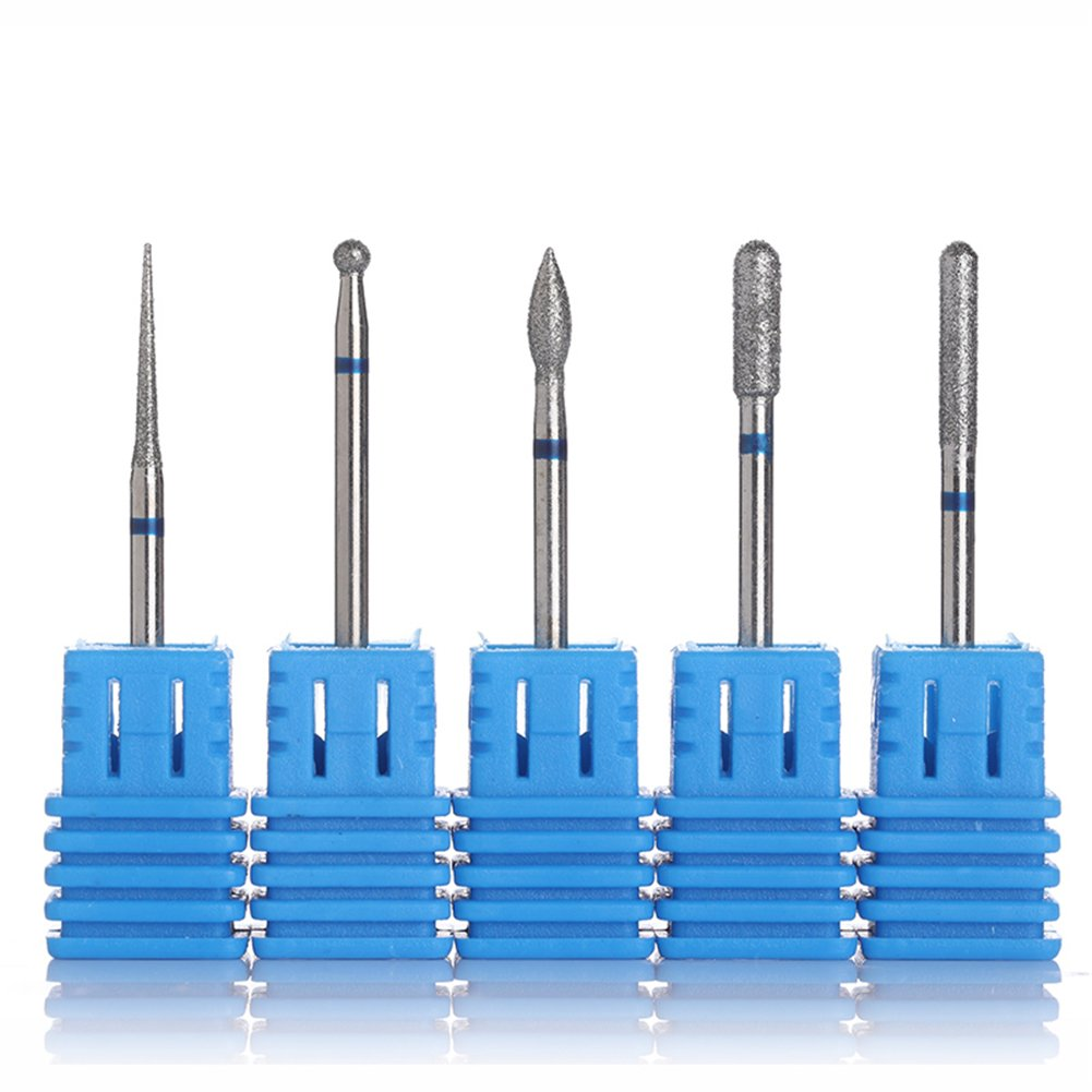 BORN PRETTY 5Pcs Carbide Nail Drill Bit Replacement File Broach Blue Manicure Nail Art Tool