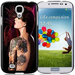 NEW DIY Unique Designed Samsung Galaxy S4 I9500 Phone Case For Red Hair Tattoo Girl Phone Case Cover