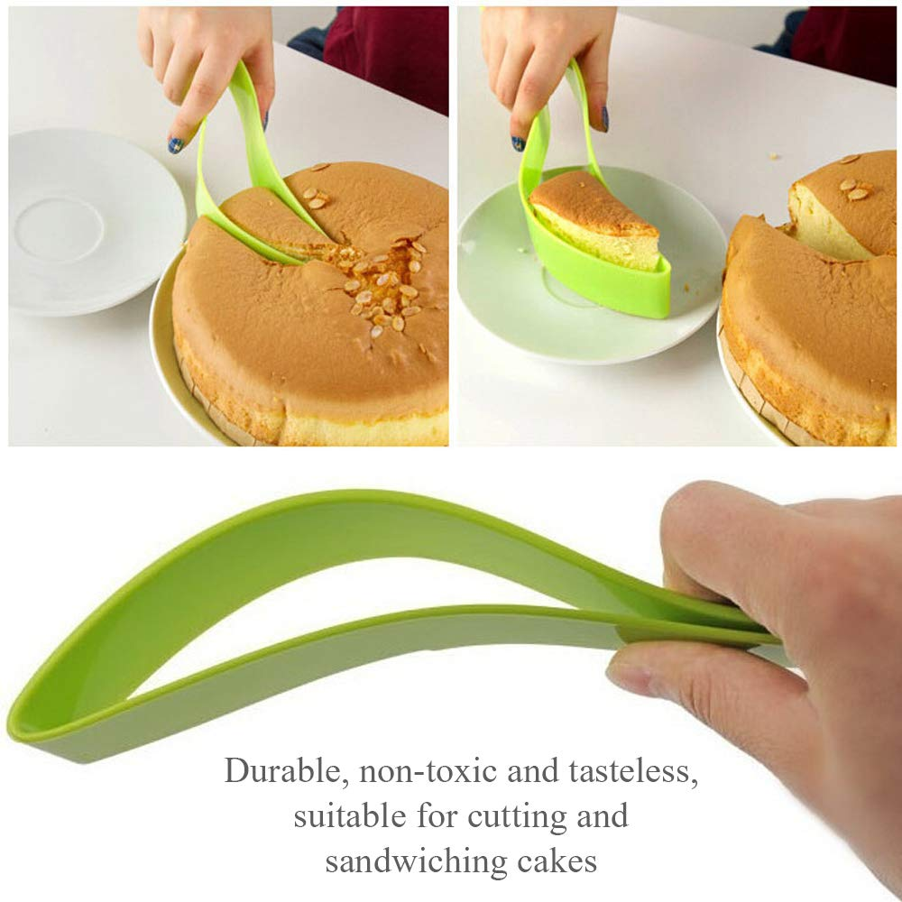 GerTong 1PCS Cake Pie Sandwich Slicer Sheet Guide Cutter Server One-Piece Cake Knife Kitchen Home Gadget Food Preparation Tool for Party Wedding Birthday Safe Easy to Clean by GerTong (Image #4)