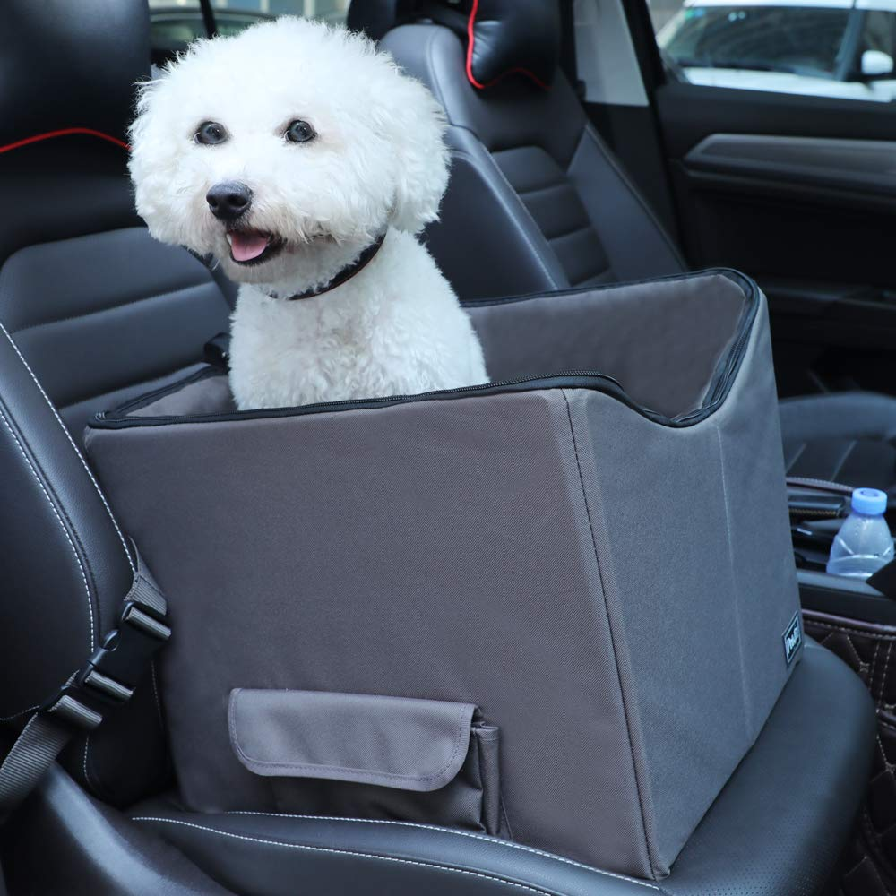 Petsfit Dog Lookout Car Booster Seat with Summer and Winter Liner, 15'' Lx16 Wx14 H by Petsfit