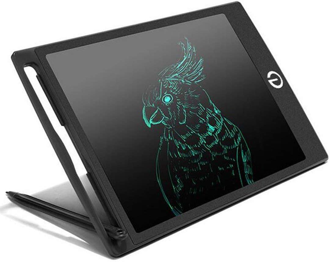 WYBD.Y 8,5-Zoll-elektronisches LCD-Tablet Graffiti für Kinder Kleine Tafel Handbemalte Tafel Leinwand Licht kann Tablet-Zeichenbrett wiederverwendbar, grün schreiben White