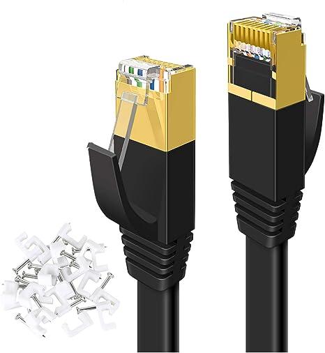 Yorepek Lan Kabel 20m Cat 7 Netzwerkkabel Flach Wlan Computer Zubehör