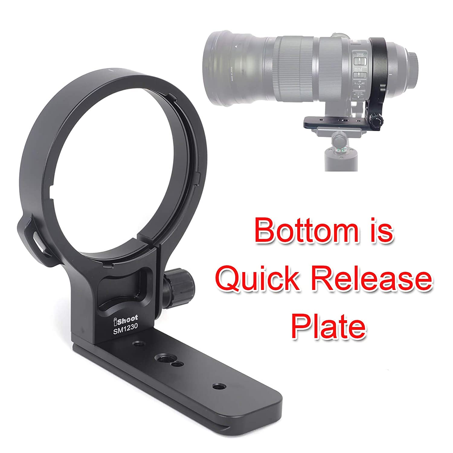 Built-in Quick Release Plate Compatible with Tripod Ball Head of Arca-Swiss PMG BENRO Fit iShoot Camera Lens Collar Bracket for Sigma 120-300mm f//2.8 DG OS HSM Sports Lens Tripod Mount Ring