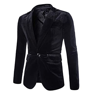 nouveau produit ab0ee da4a0 Manteau Homme Fashion Casual en Velours CôTelé Pur Seul ...