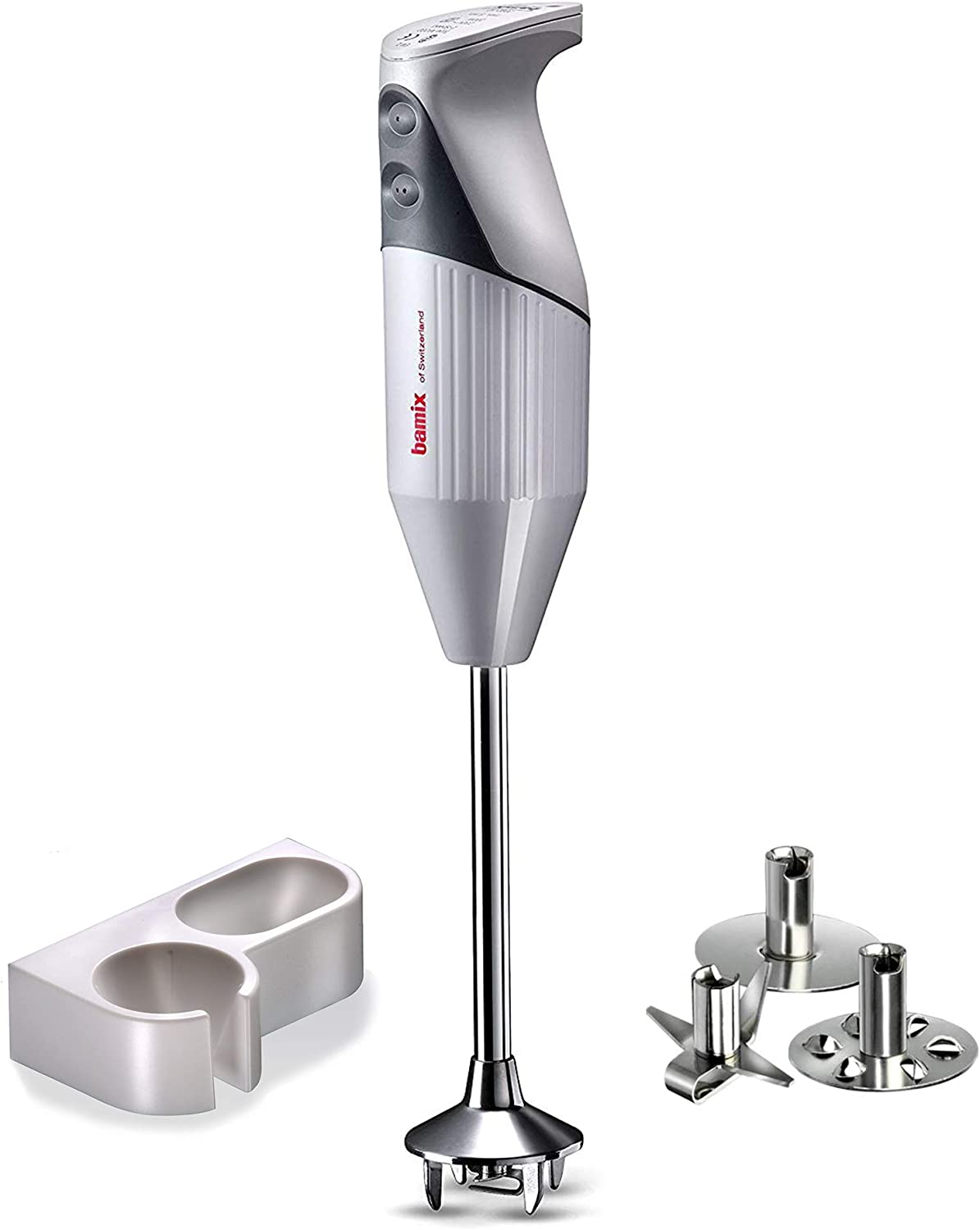Bamix G200 Gastro Pro-2 NSF Professional Immersion Hand Blender – Light Grey – 200W 120V 60Hz with US-plug – 3 Stainless Steel Blades – NSF Rated for Professional Cooking Projects