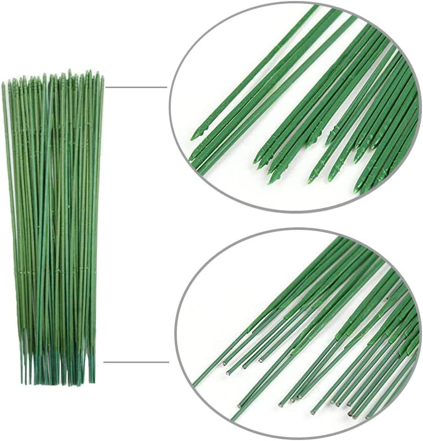 "Dark Green 9.8/"" and 11.8/"" Floral Wire for Handcrafts Florist Flower Arrangements Flower Making Supplies 100 Pieces Floral Stem Wire 18 Gauge Dark Green stem Wire for Flowers"