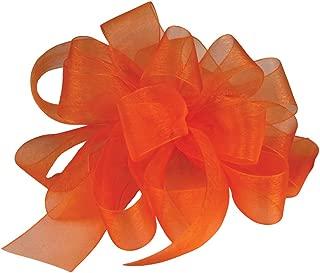 "product image for Offray Berwick LLC 429198 Berwick Simply Sheer Asiana Ribbon - 1-1/2"" W X 100 yd - Tropical Orange Ribbon"