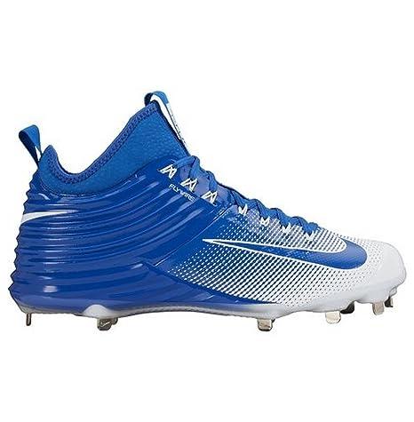 e51df2bee8bb Amazon.com  Nike Men s Lunar Trout 2 Baseball Cleats (Blue White 01 ...