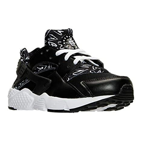86a29d26e4615 Image Unavailable. Image not available for. Color  NIKE HUARACHE RUN PRINT  BLACK WHITE ...