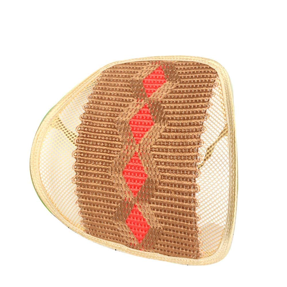 Cushion Mesh Lumbar Support, Mesh Back Support for Office Chair Seats for Back Pain Relief (2 Pieces) Cushion (Color : C)