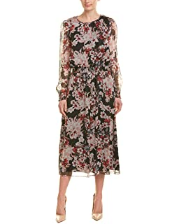 ea7adbe5a5 VINCE CAMUTO Women's Long Sleeve Regal Stamp Floral Maxi Dress at ...