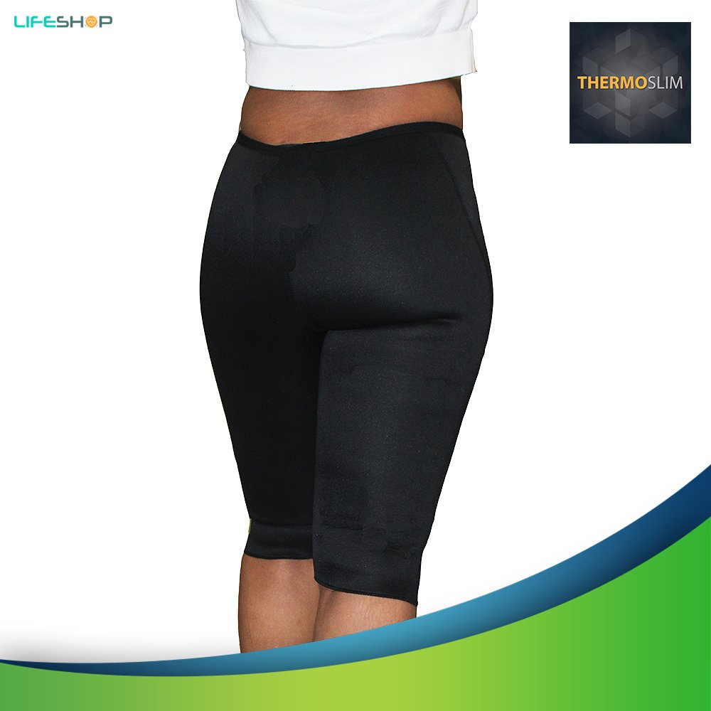 15c39d9aac Thermo Slim Neoprene Workout Sweat Capri Pants by LifeShop | Women's  Thermal Slimming Shorts Anti-Cellulite Yoga Pants High Waist Tummy Control  Active Wear ...
