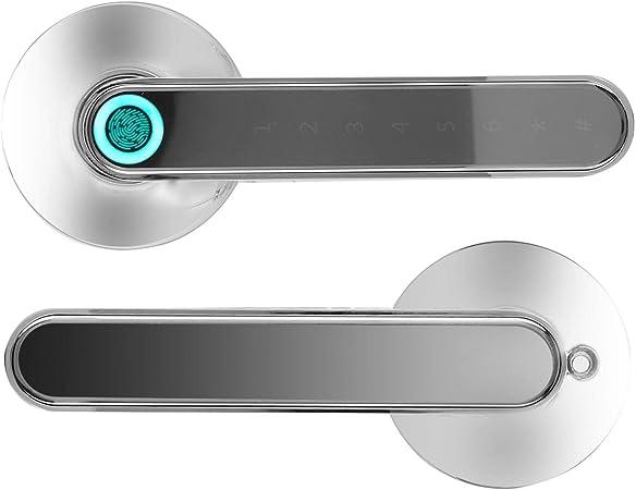 Cerradura de puerta con huella digital, Cerradura biométrica inteligente de huellas dactilares, ...