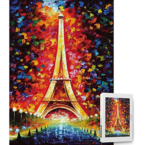 Ingooood- Painting Series- Eiffel Tower Paris by Leonid Afremov Jigsaw Puzzles in a Puzzle 1000 Pieces for ()