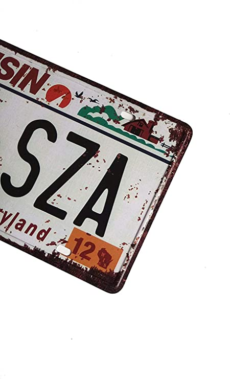 Eureya WISCONSIN 170-SZA Placa de matr/ícula para el coche dise/ño vintage con texto en ingl/és Home//Cafe Bar//Pub//Restaurante//Exhibition Wall Decor 6 x 12