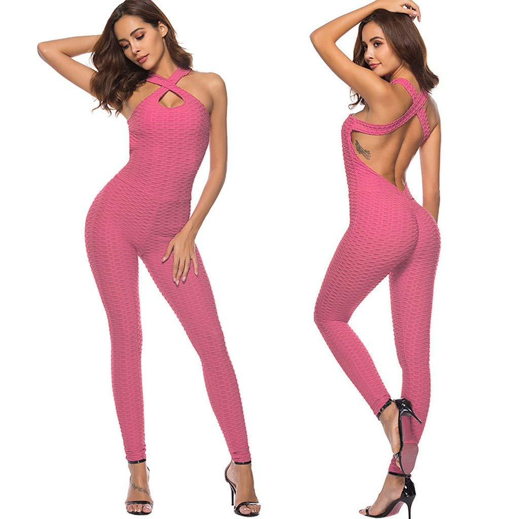 Amazon.com: Hmlai Clearance Women Sexy Sport Yoga Jumpsuit ...