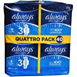 Sempre ultra notte con ali taglia 3 Pads, 40 Value Pack
