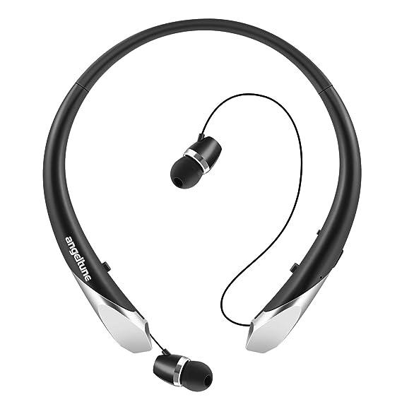 c4dd460626d Angeltune Wireless Headphones, Retractable Earbuds Ultra Lightweight Sport  Sweatproof Bluetooth 4.1 Headset Noise Cancelling Stereo