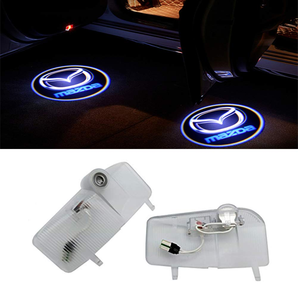 QJZoncuji 2 X Cree Car Door Light Ghost Shadow Light Logo Projector