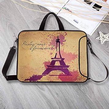 Amazon.com: Eiffel Tower Decor - Bolsa de neopreno ligera ...