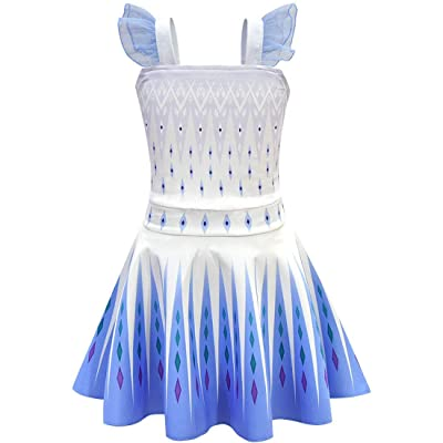 snow flying Girls Fancy Party Dress Costume Girls Cute Princess Dress Costume: Clothing