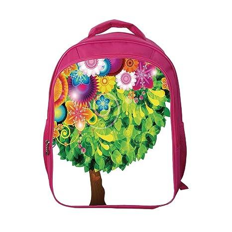 91149cba808c iPrint School Bags Kid's Backpacks Custom,Tree of Life,Colorful Tree  Fantasy Style Illustration