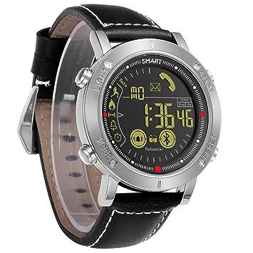 CCYOO Smartwatch Sport Reloj Digital Reloj Automático para Hombre Reloj De Pulsera Inteligente Fitness,Silver: Amazon.es: Deportes y aire libre