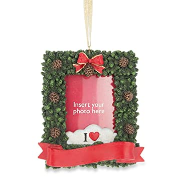 Insert Your Own Picture Christmas Ornament Picture Frame Amazonca