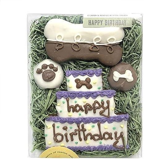Amazon.com: Feliz Cumpleaños perro Galletas: Mascotas