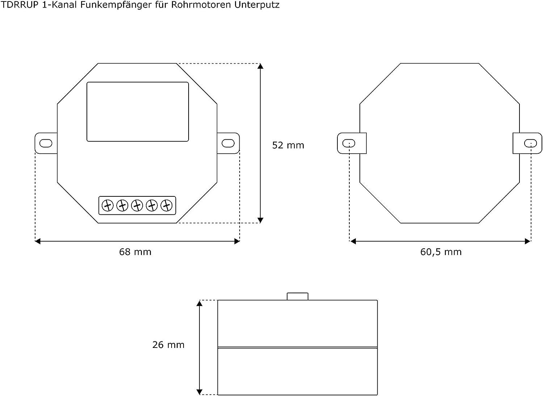 JAROLIFT 1x T/él/écommande Timer 4-canaux TDRCT 04 avec 1x r/écepteur radio TDRRUP