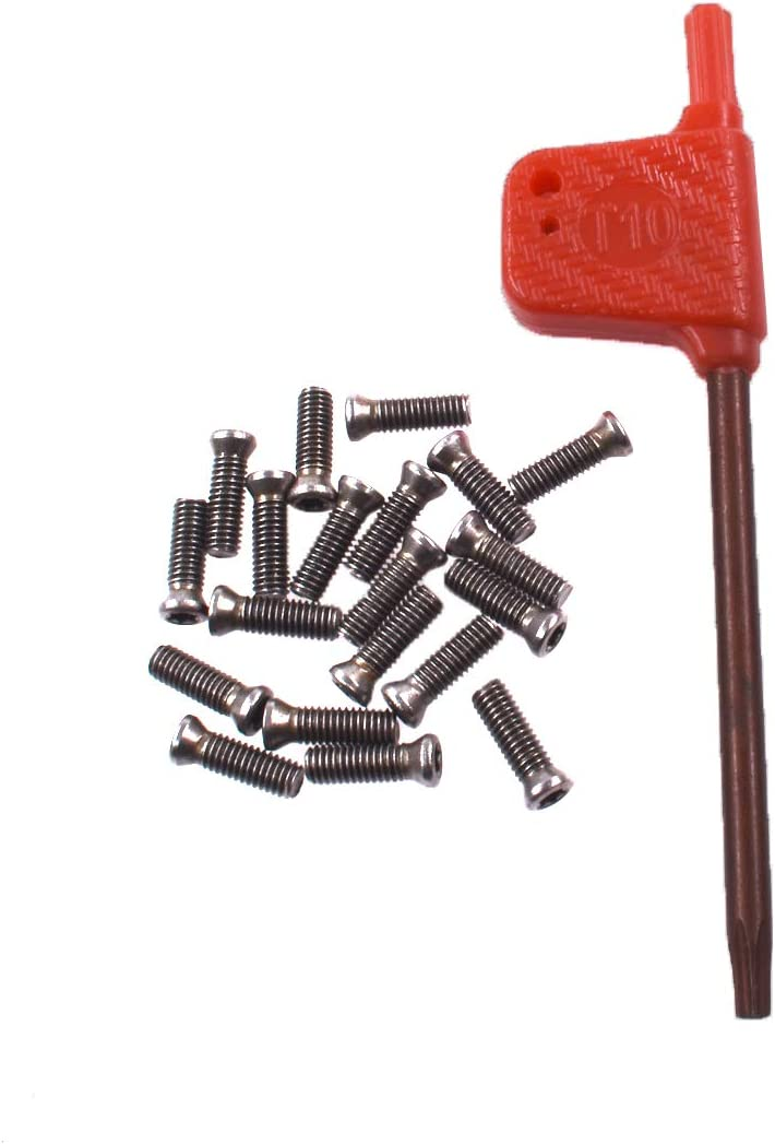 Alloy Steel Torx Screws /& Wrench For Replaces Carbide Insert Lathe Tools