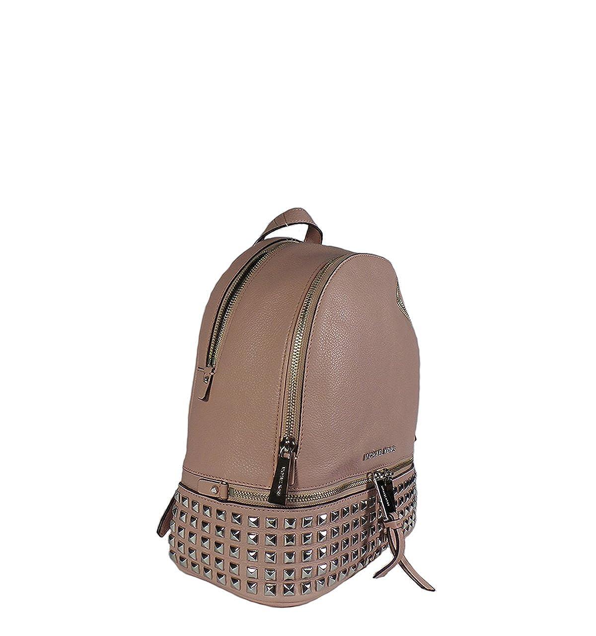 2bb39b4bd98d Amazon.com: Michael Kors Rhea Small Studded Leather Backpack Ballet: Shoes