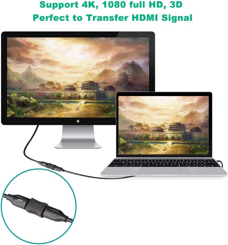 J/&D Adaptateur de Coupleur HDMI Prise en Charge Ethernet 3D 4K Arc 2-Pack Plaqu/é Or Femelle vers Femelle 4K HDMI Coupleur HDMI Extenseur