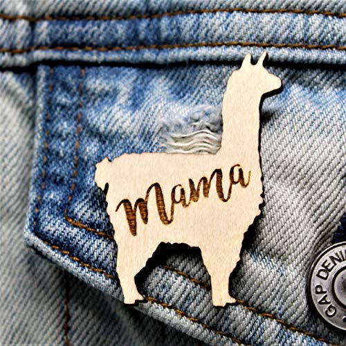 Mama Llama Pin Mother's Day Gift | Cute Last-Minute Small Gift for Mom Brooch