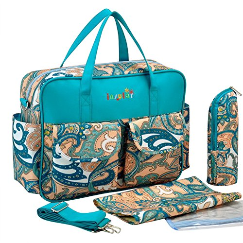 Mummy Multifunction Baby Diaper Backpack Travel Bag Nappy Changing Tote Shoulder,Turquoise