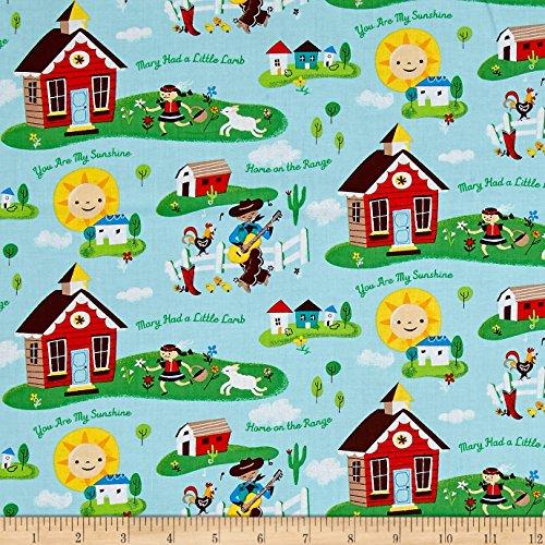 Windham Fabrics Nursery Rhymes Daytime Multi Fabric by The Yard, Multicolor