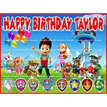 PAW PATROL Personalized edible image cake topper birthday party decor decoration premium frosting sheet