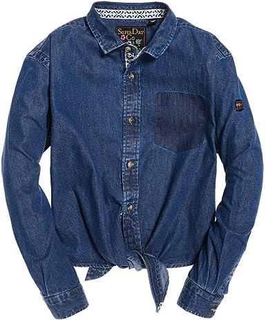 Superdry Denim Tie Camiseta Mujer Geo Blue S: Amazon.es: Ropa