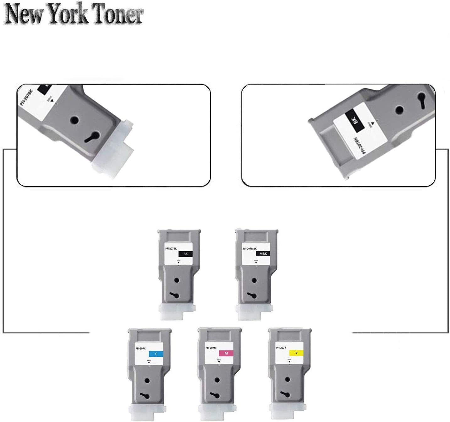 NYT New Compatible 1 Pack PFI-207C HY Ink Cartridge for Canon ImagePROGRAF iPF670 680 685 Cyan