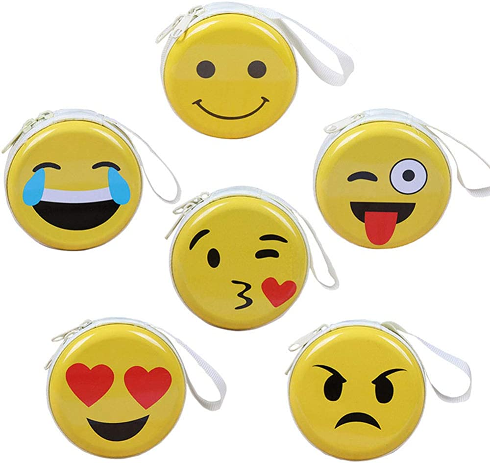Coin Purse Funny Smiley Faces Womens Wallet Clutch Bag Girls Small Purse