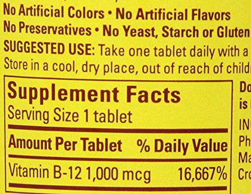 031604027315 - Nature Made Vitamin B-12 Timed Release Tablets, Value Size, 1000 Mcg, 160 Count carousel main 1