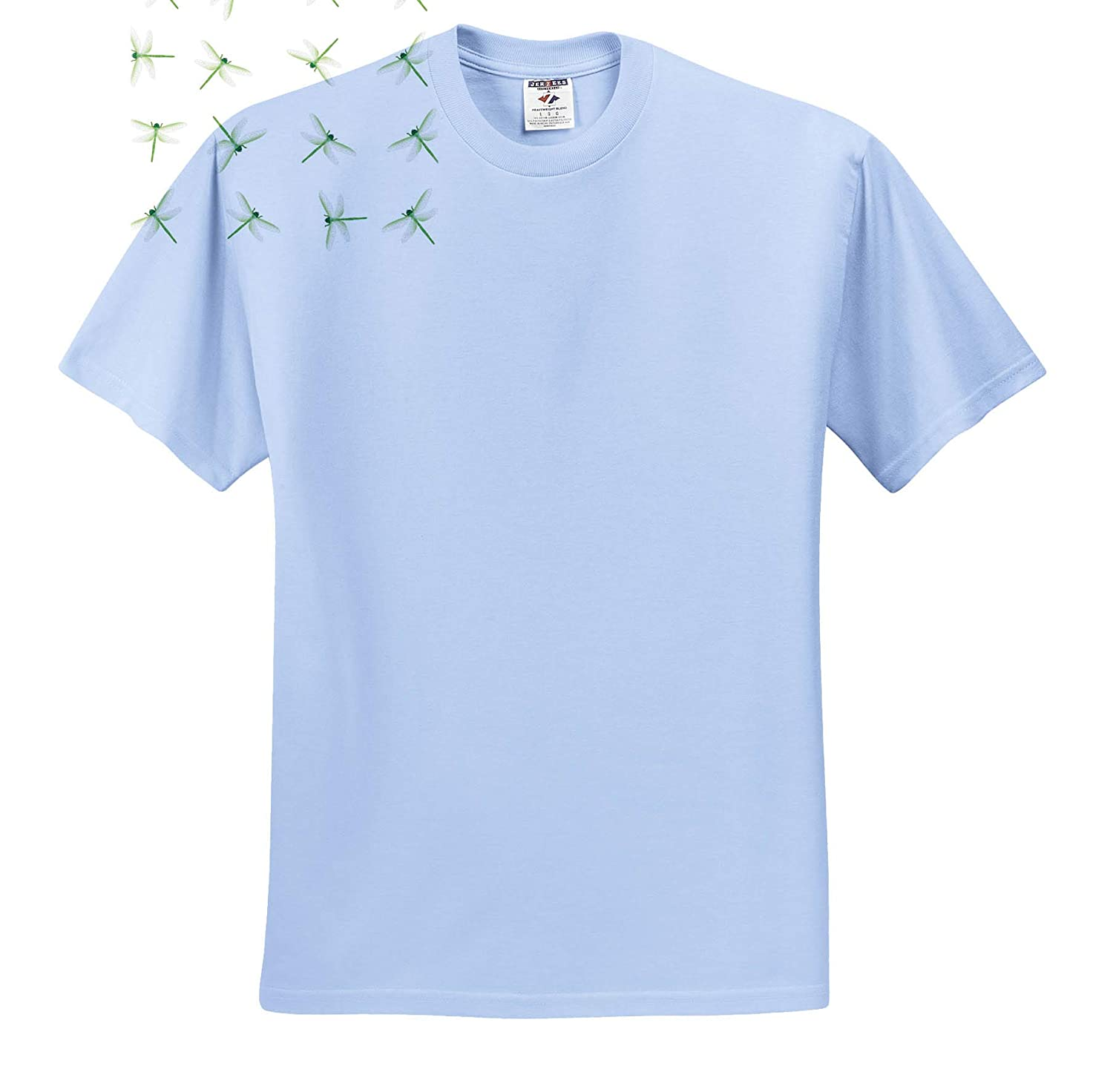 Image of Small Green Dragonflies Repeat Pattern T-Shirts 3dRose Lens Art by Florene Toss Patterns