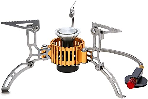 TOMSHOO Camping Stove Lightweight Backpacking Stove Foldable Windproof Wood Burning Gas Stove