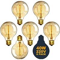 6 bombillas de globo de Edison vintage