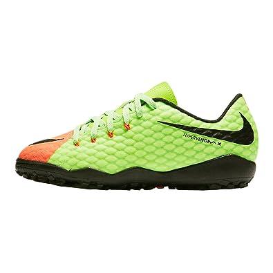 acb41bc73 Nike Youth Hypervenom Phelon III Turf Shoes  Green  (1)