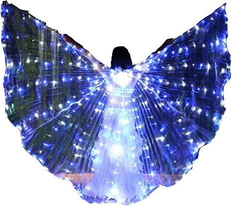 Jolie LED ISIS Wings Brillante Danza del Vientre Disfraces de alas ...