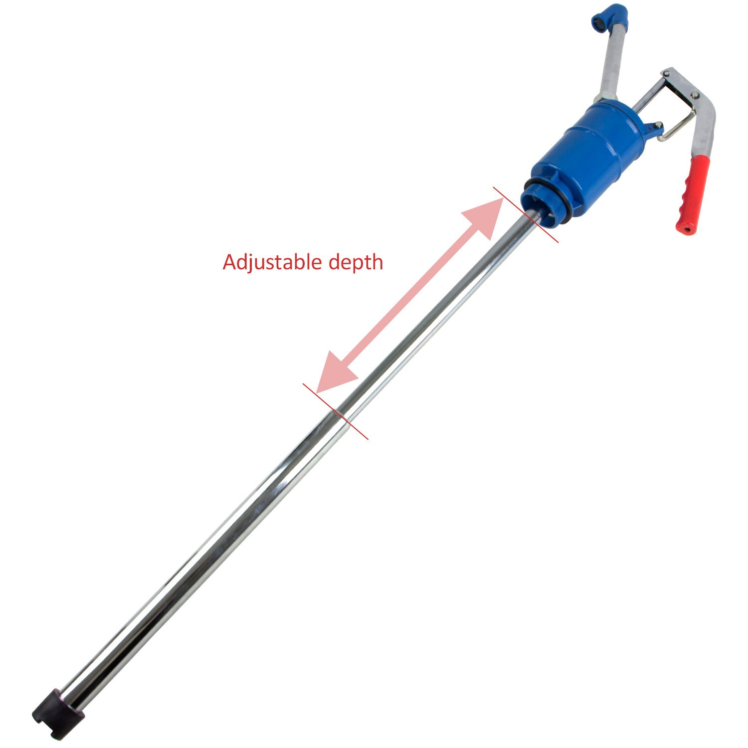 TERAPUMP High-Viscosity Hand Operated Lever-Action Drum Pump for Drum Barrels
