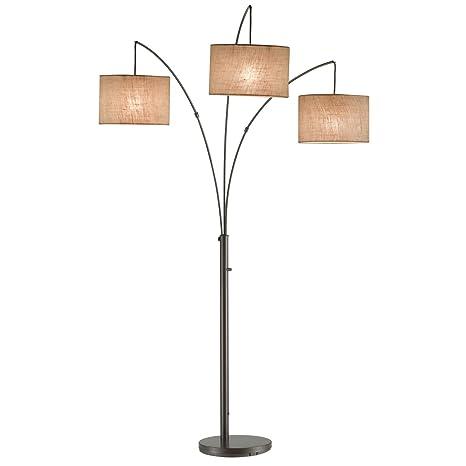 Moderno 74-inch 3 luz tela pantalla para lámpara Arc lámpara ...